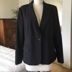 Calvin Klein black one button blazer